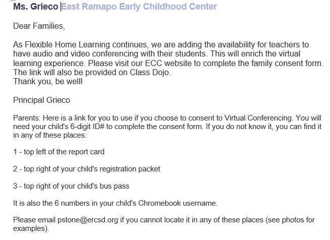 Virtual Learning Consent