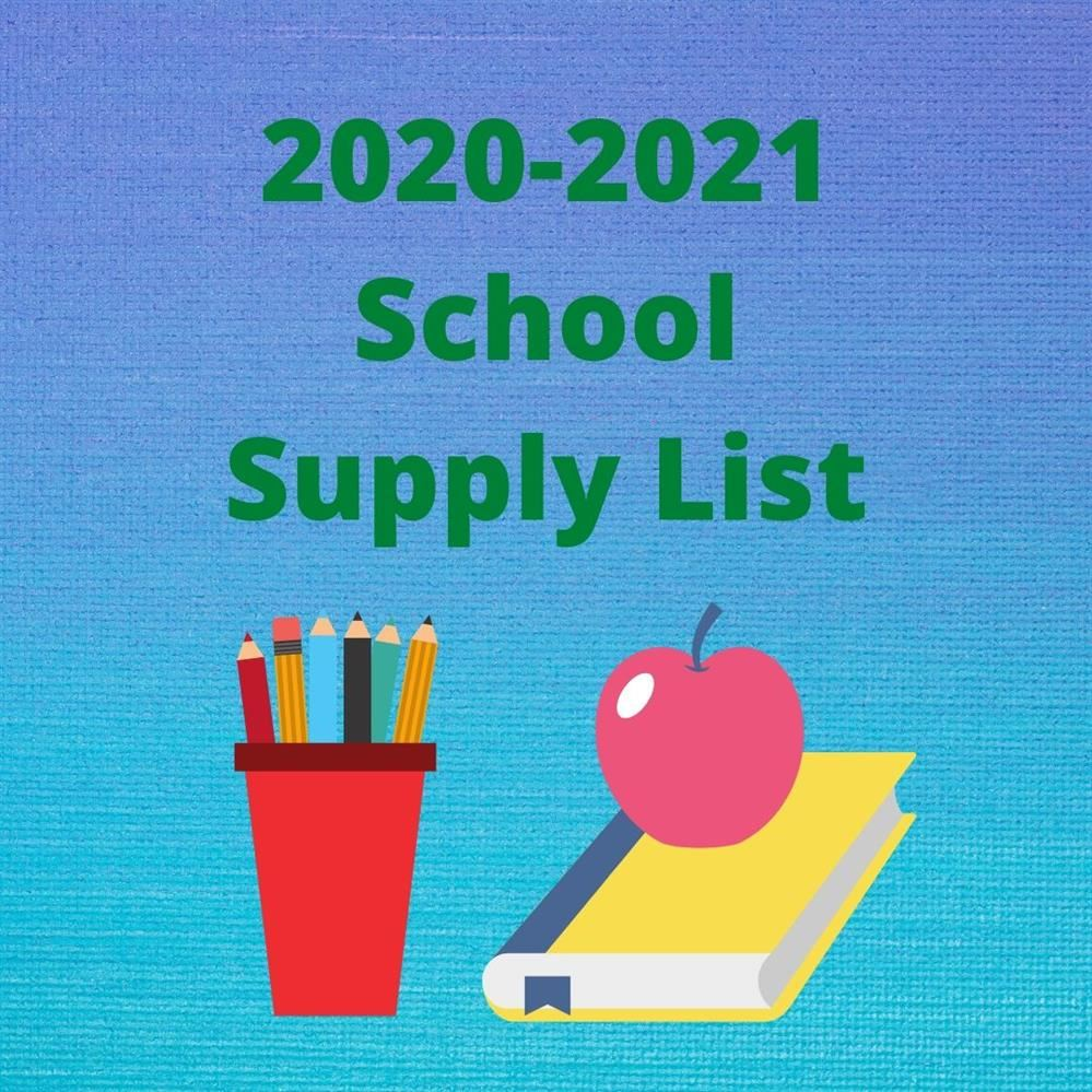 2020 - 2021 Supply Lists are Available!!!
