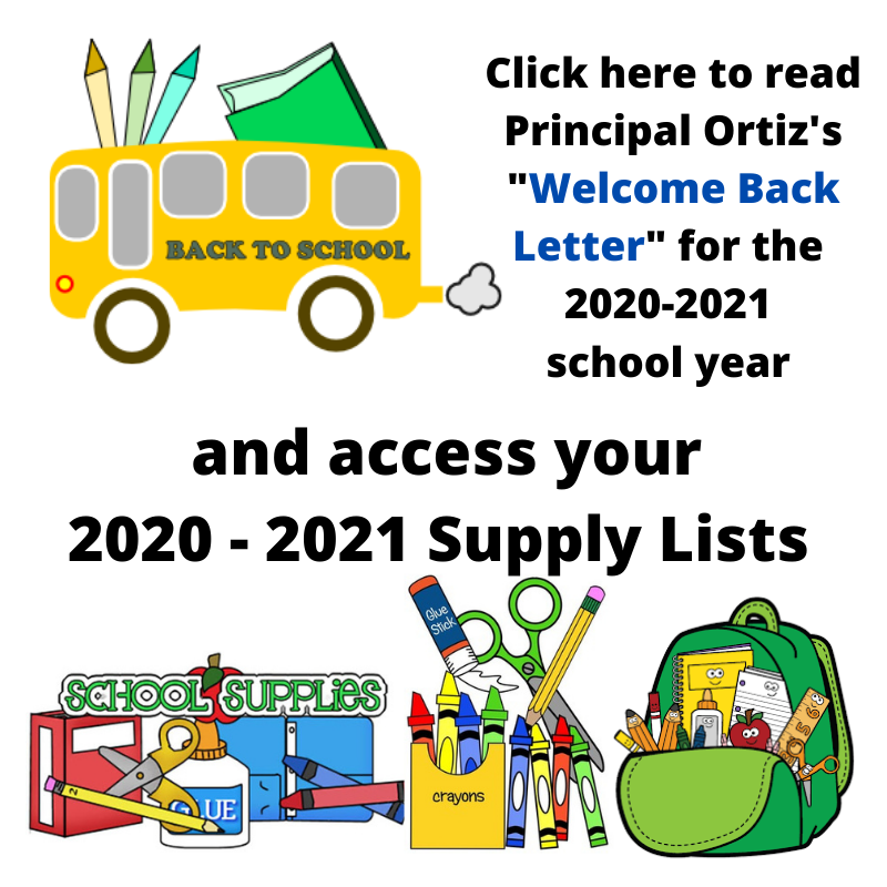 Welcome Back Letters & Supply Lists